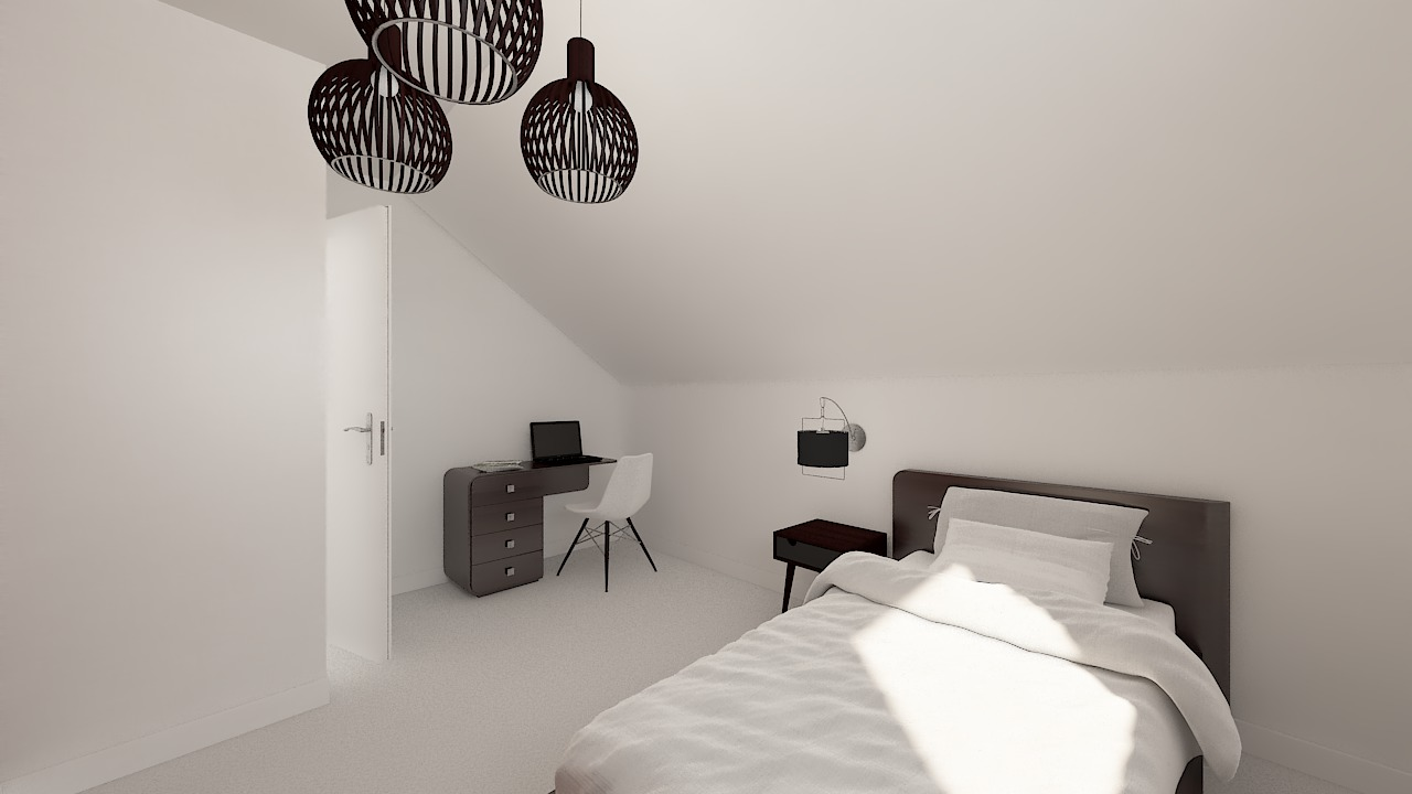 maison ossature bois logicobois modele Amsterdam - chambre3