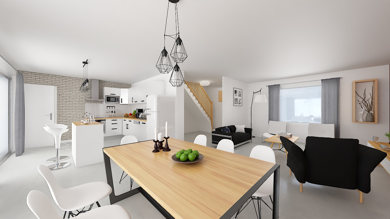 maison ossature bois logicobois modele Amsterdam - cuisine