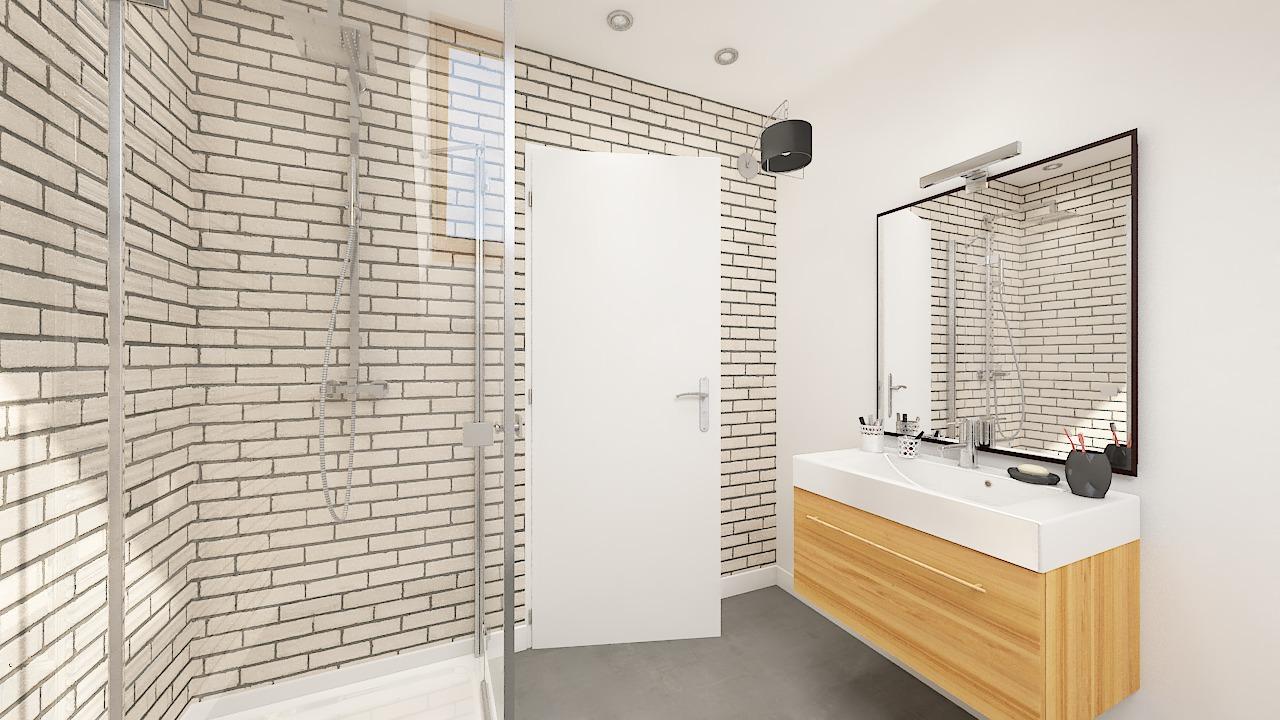 maison ossature bois logicobois modele Amsterdam - sdb