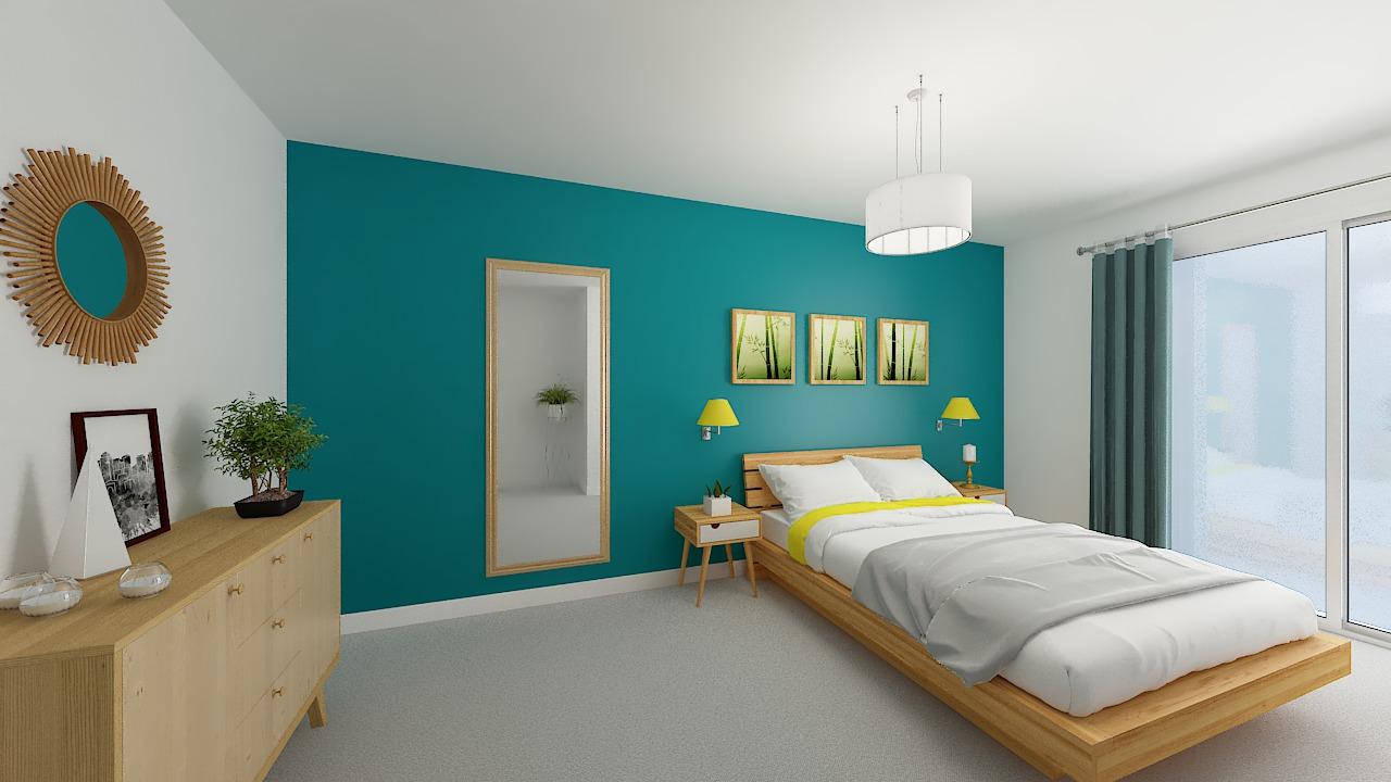 maison ossature bois logicobois modele Athenes - chambre1