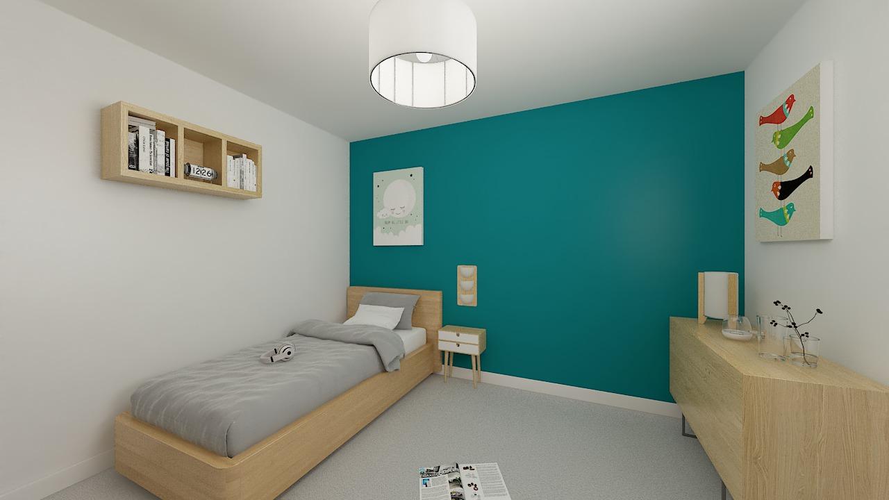 maison ossature bois logicobois modele Athenes - chambre3