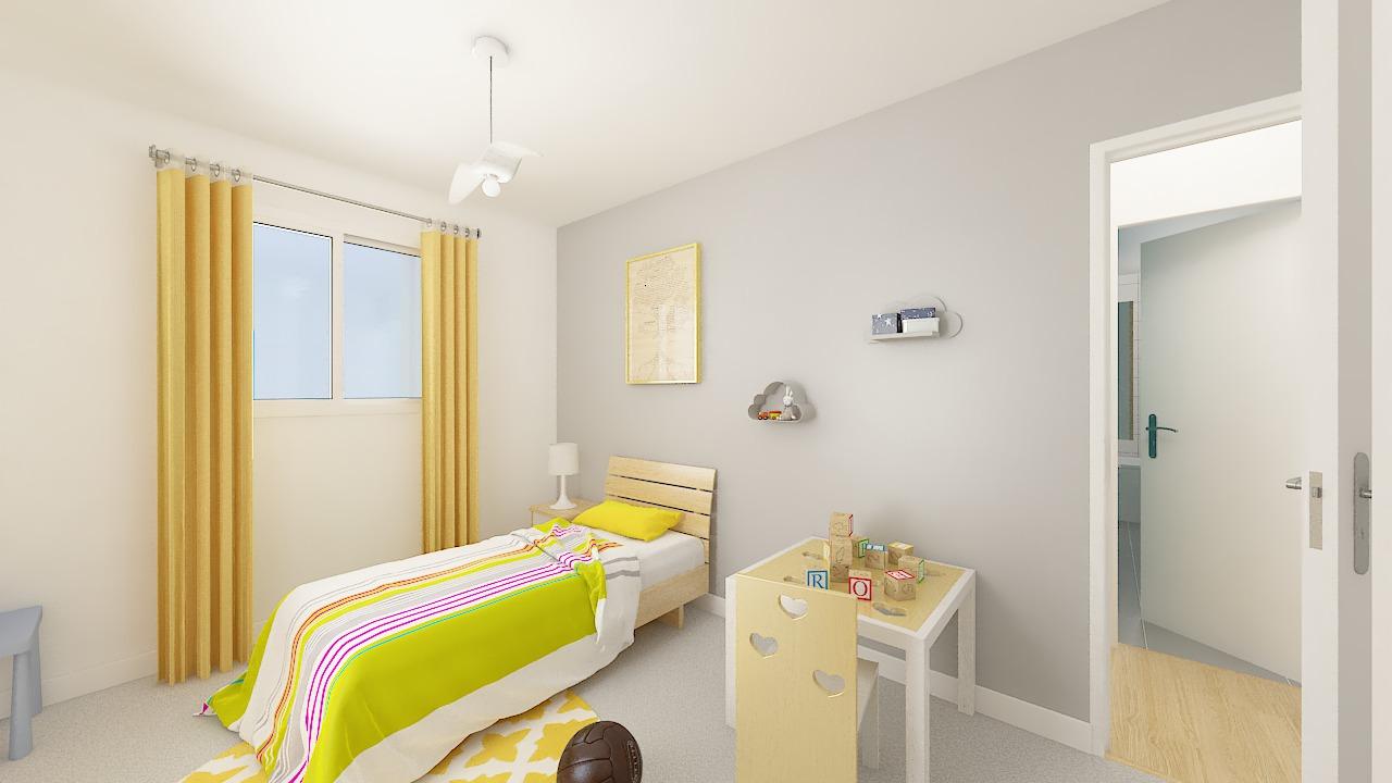 maison ossature bois logicobois modele Athenes - chambre4