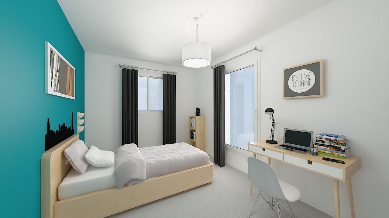 maison ossature bois logicobois modele Athenes - chambre5