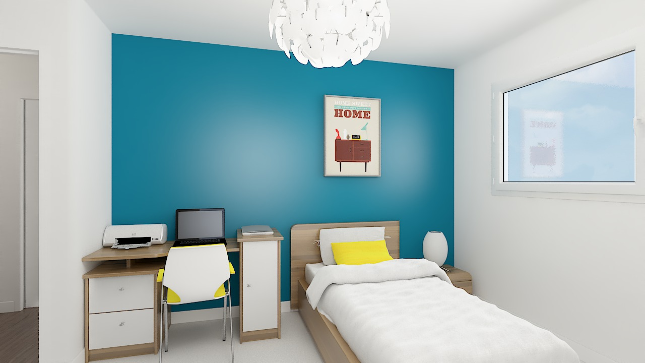 maison ossature bois logicobois modele Brisbane - chambre1