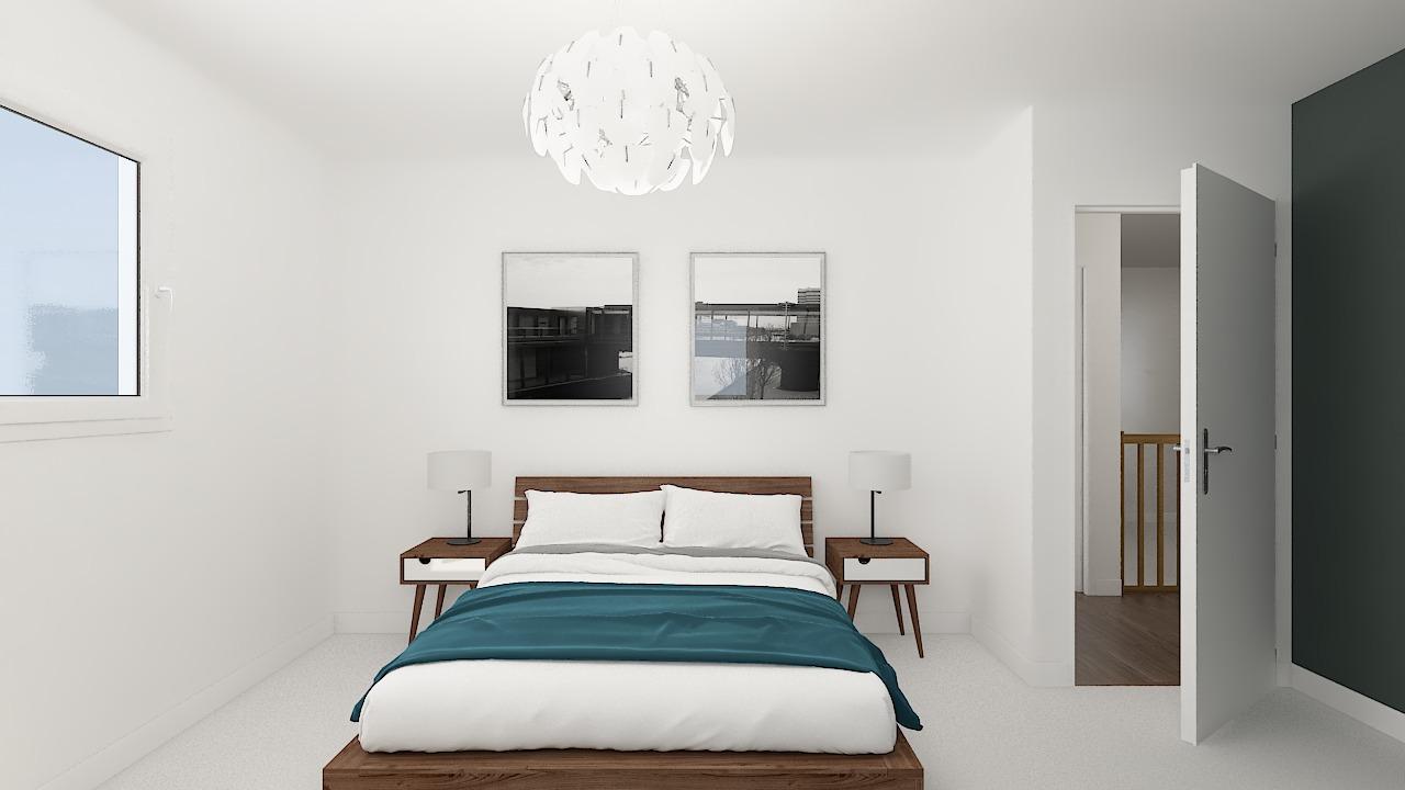 maison ossature bois logicobois modele Brisbane - chambre2