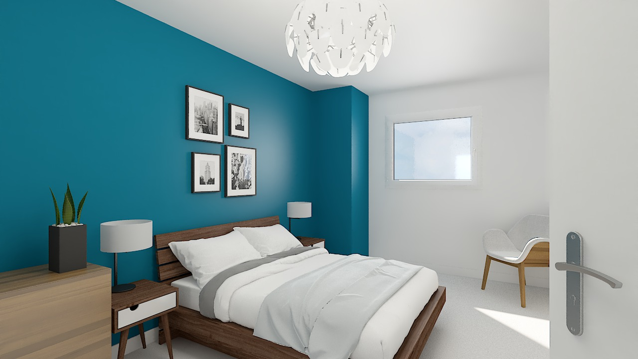 maison ossature bois logicobois modele Brisbane - chambre3