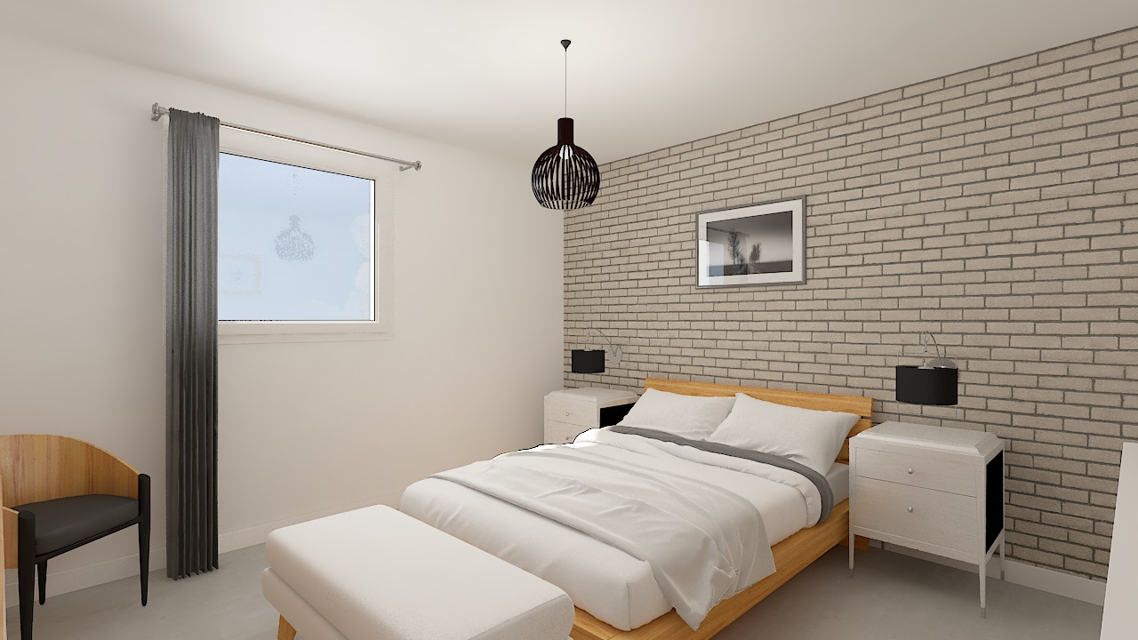 maison ossature bois logicobois modele Tallinn - chambre1