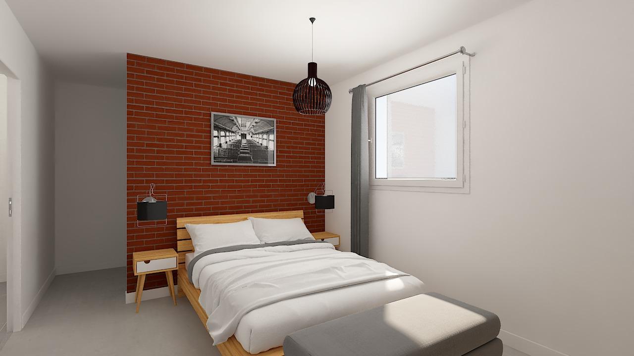 maison ossature bois logicobois modele Tallinn - chambre2