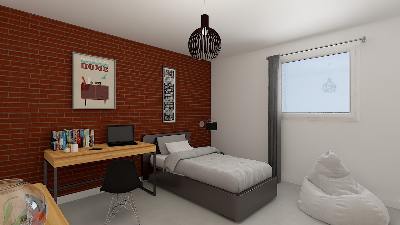 maison ossature bois logicobois modele Tallinn - chambre3
