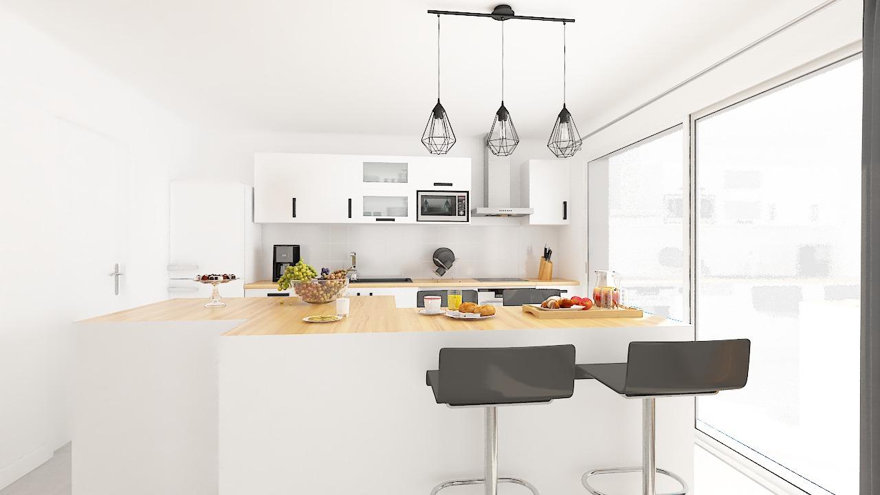 maison ossature bois logicobois modele Tallinn - cuisine