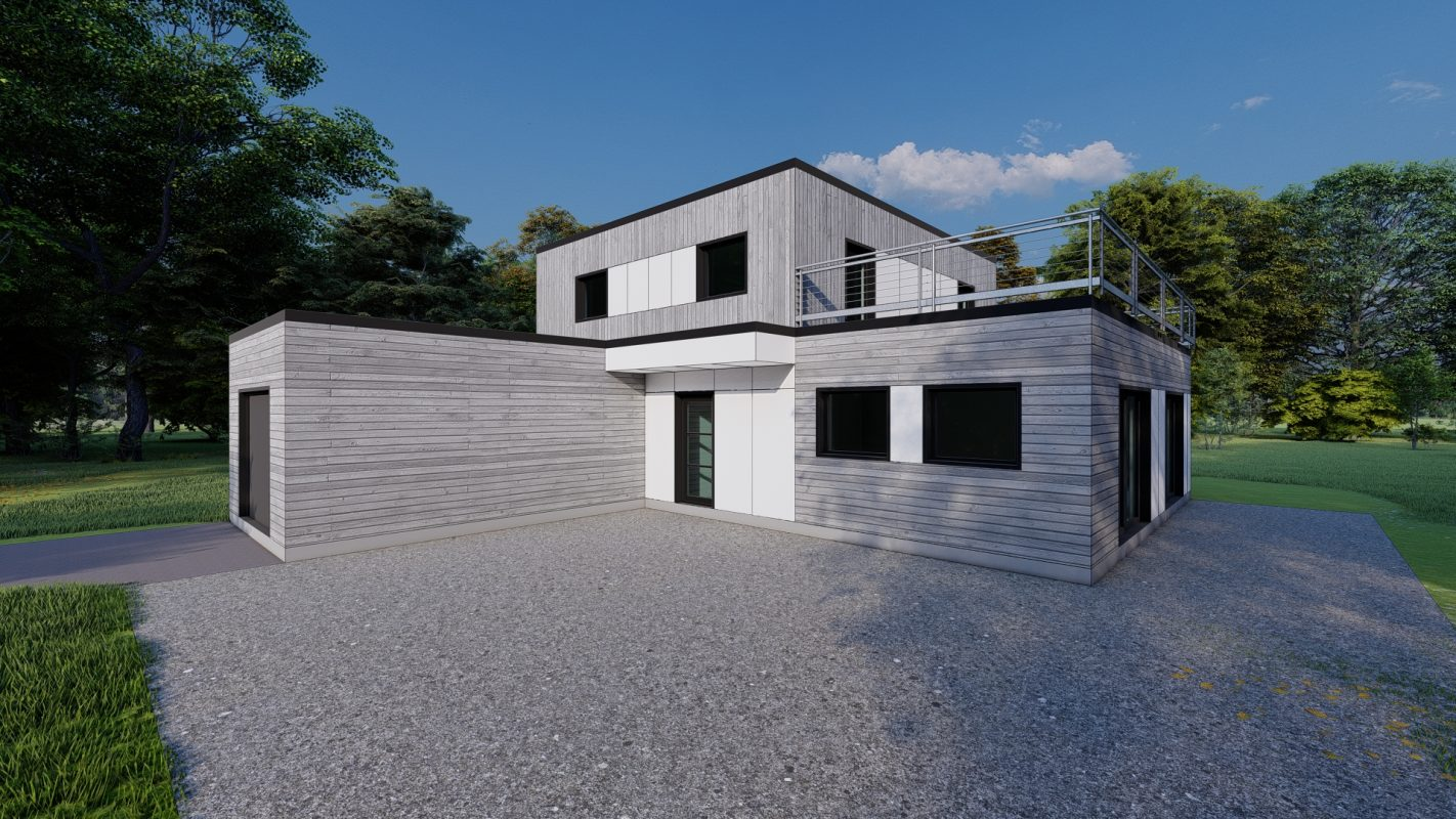 maison ossature bois logicobois modele athenes