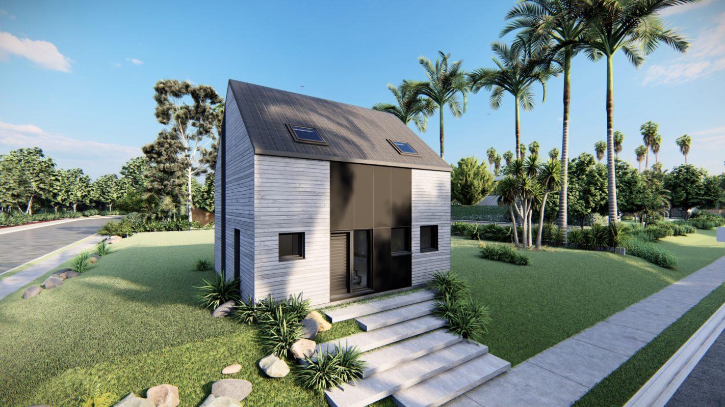 maison ossature bois logicobois modele atlanta vue devant