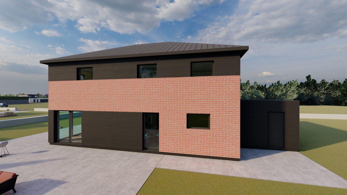 maison ossature bois logicobois modele brisbane vue arriere