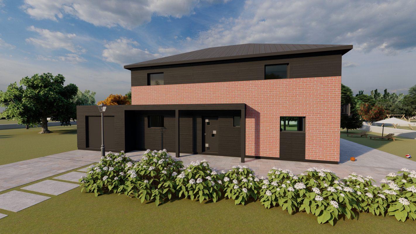 maison ossature bois logicobois modele brisbane vue devant