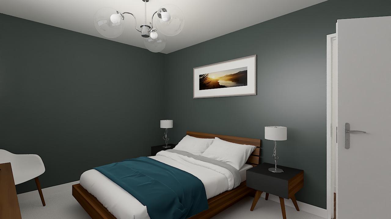 maison ossature bois logicobois modele cancun - chambre2