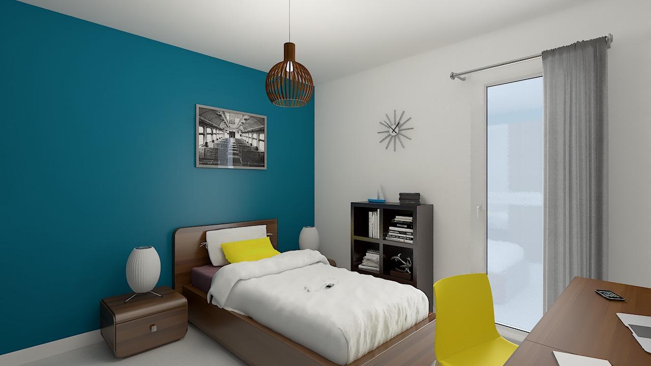 maison ossature bois logicobois modele cancun - chambre3