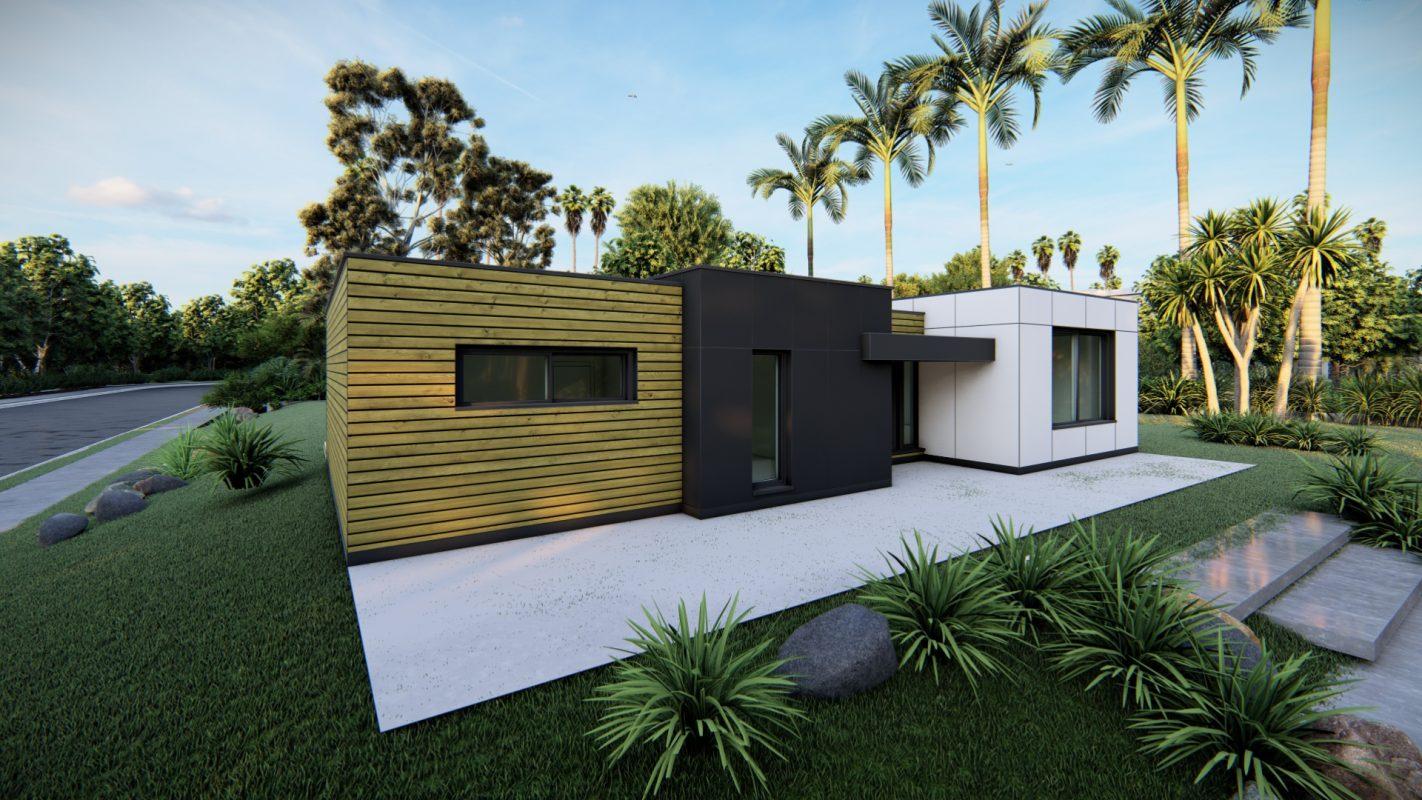 maison ossature bois logicobois modele cancun vue devant