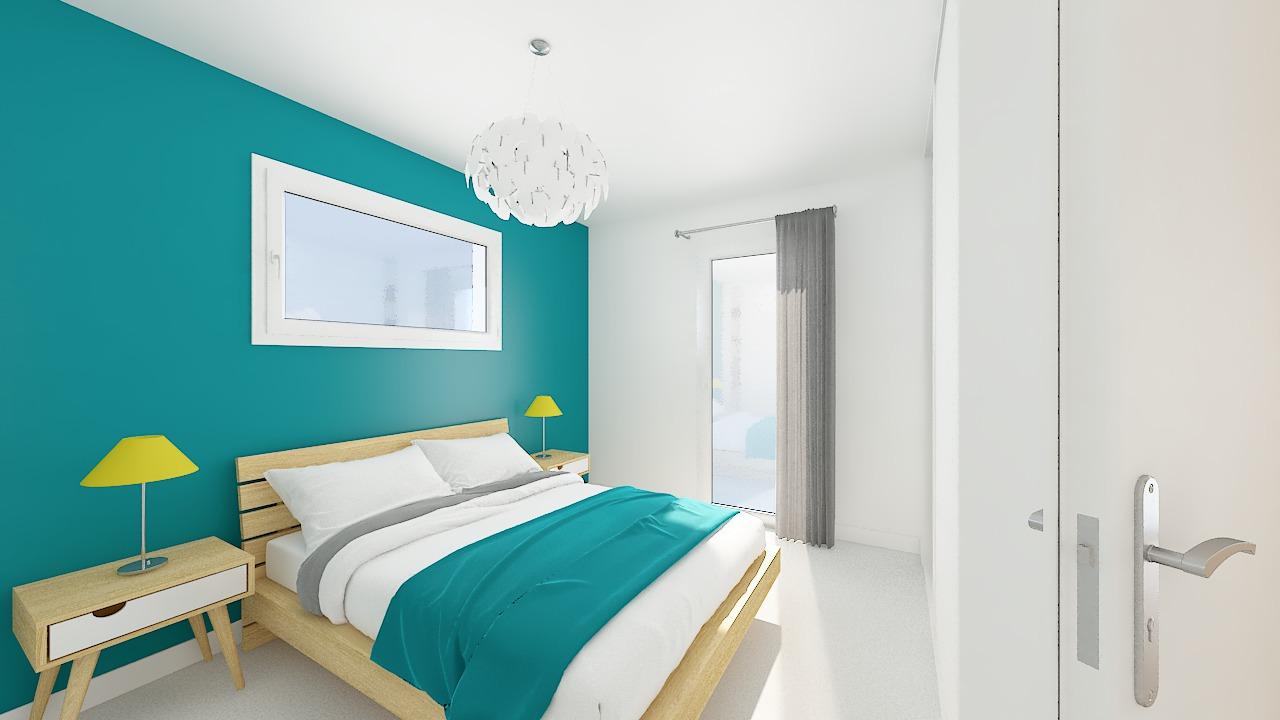 maison ossature bois logicobois modele lisbonne - chambre1