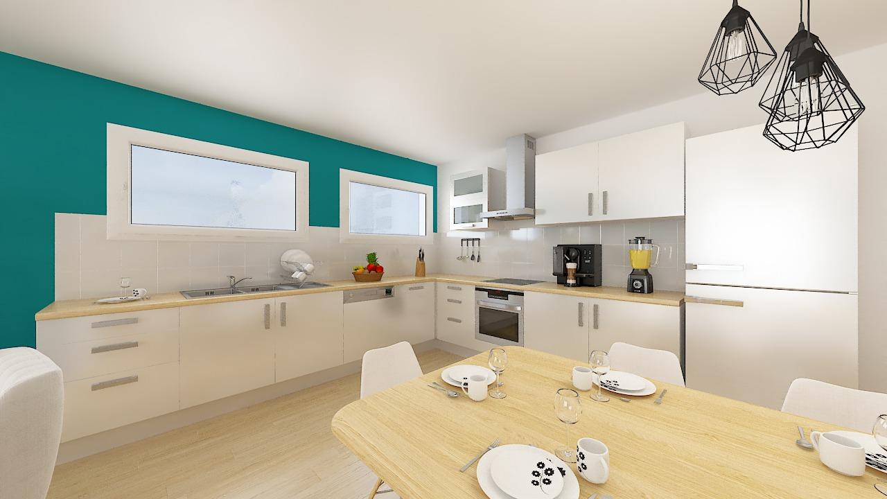 maison ossature bois logicobois modele lisbonne - cuisine