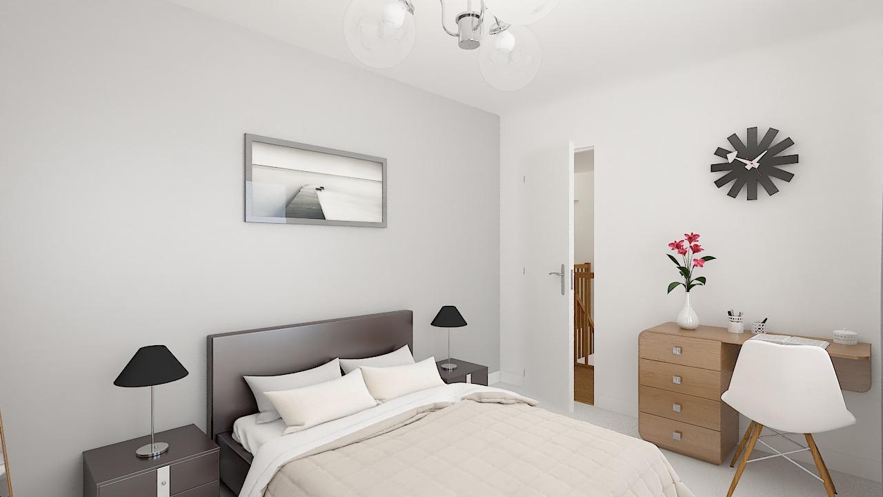 maison ossature bois logicobois modele londres - chambre1
