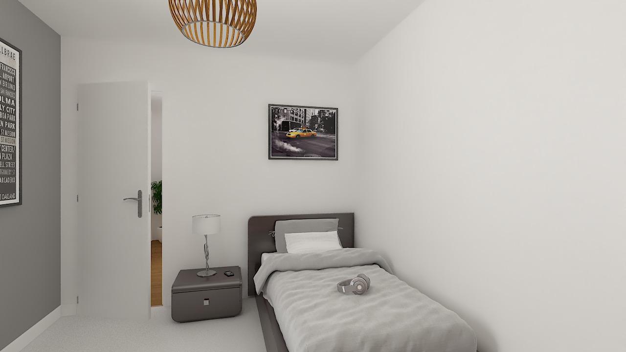 maison ossature bois logicobois modele londres - chambre2