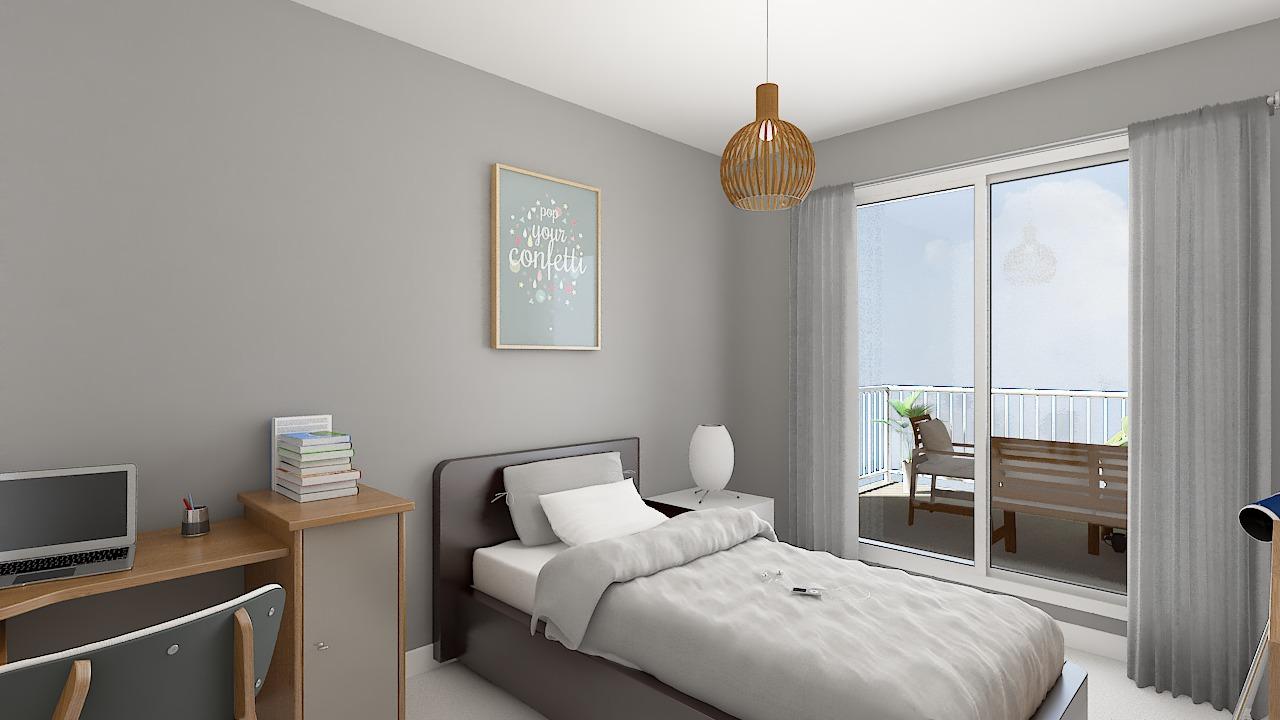 maison ossature bois logicobois modele londres - chambre3