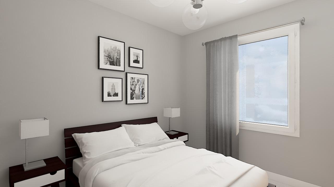maison ossature bois logicobois modele londres - chambre4