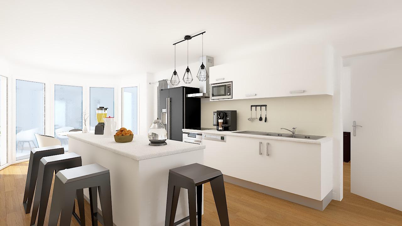 maison ossature bois logicobois modele londres - cuisine