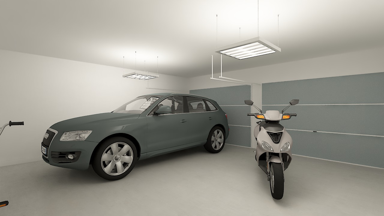 maison ossature bois logicobois modele londres - garage