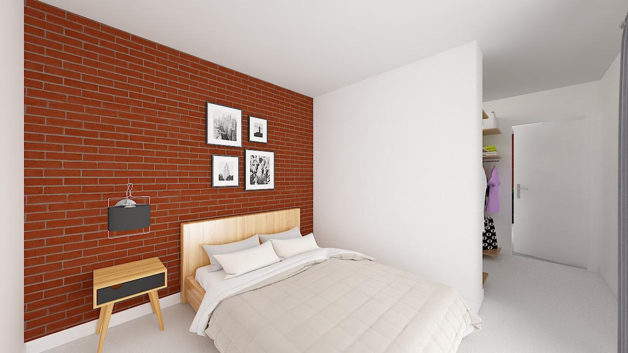 maison ossature bois logicobois modele malaga - chambre1