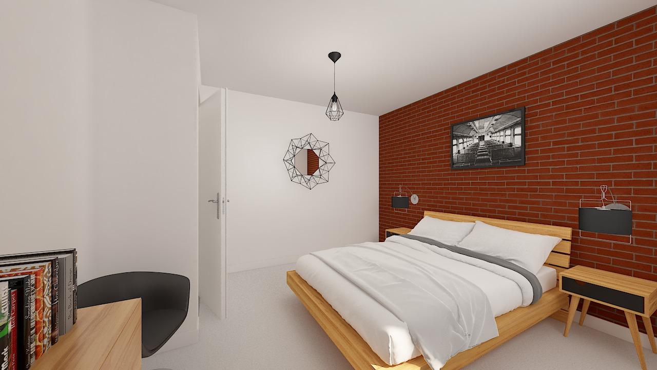 maison ossature bois logicobois modele malaga - chambre2