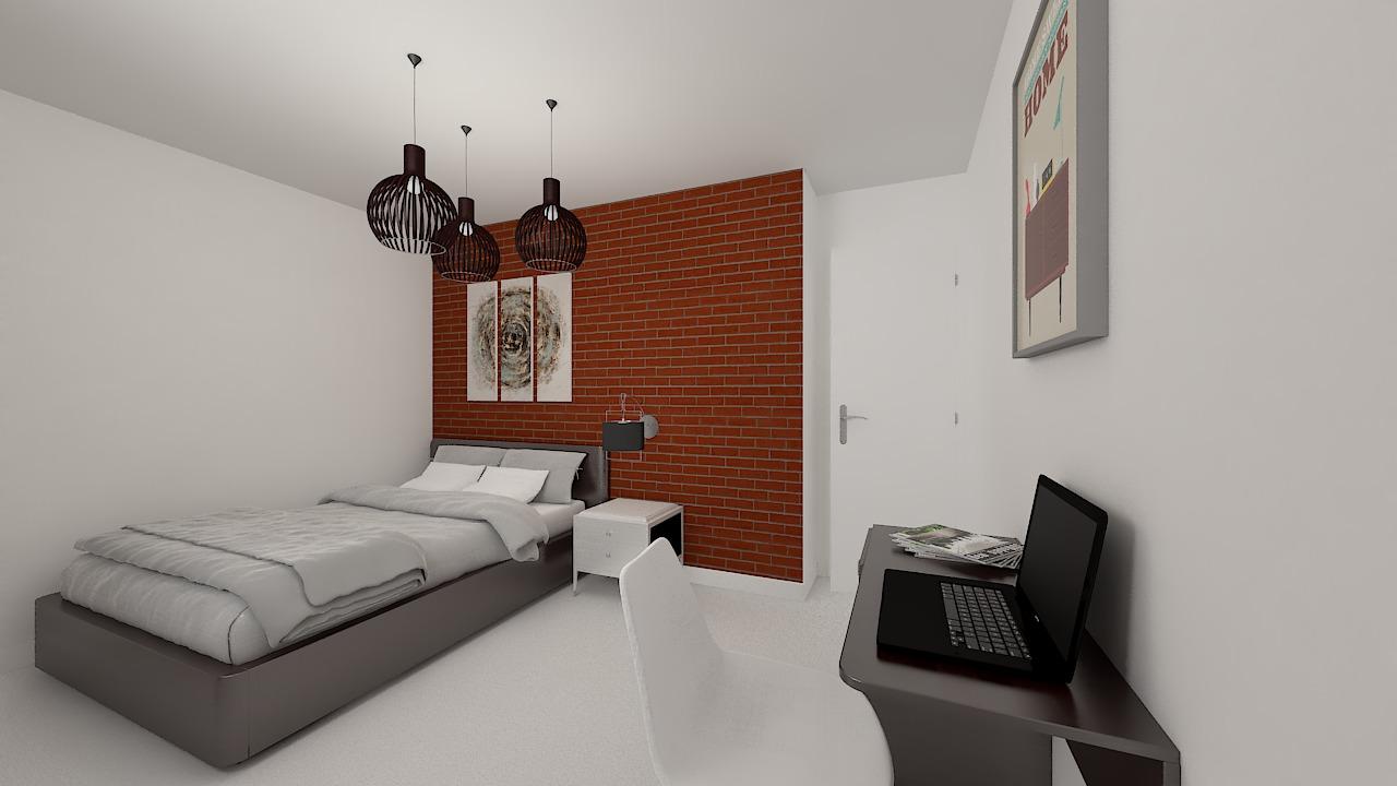 maison ossature bois logicobois modele malaga - chambre3