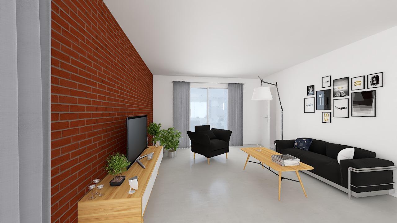 maison ossature bois logicobois modele malaga - sejour