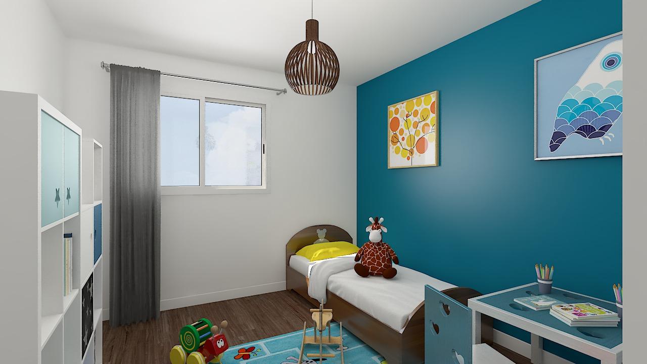 maison ossature bois logicobois modele milan - chambre3