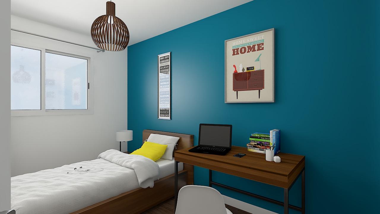 maison ossature bois logicobois modele milan - chambre4
