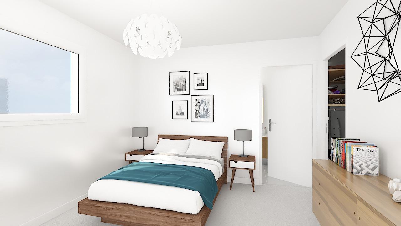 maison ossature bois logicobois modele new-york - chambre1