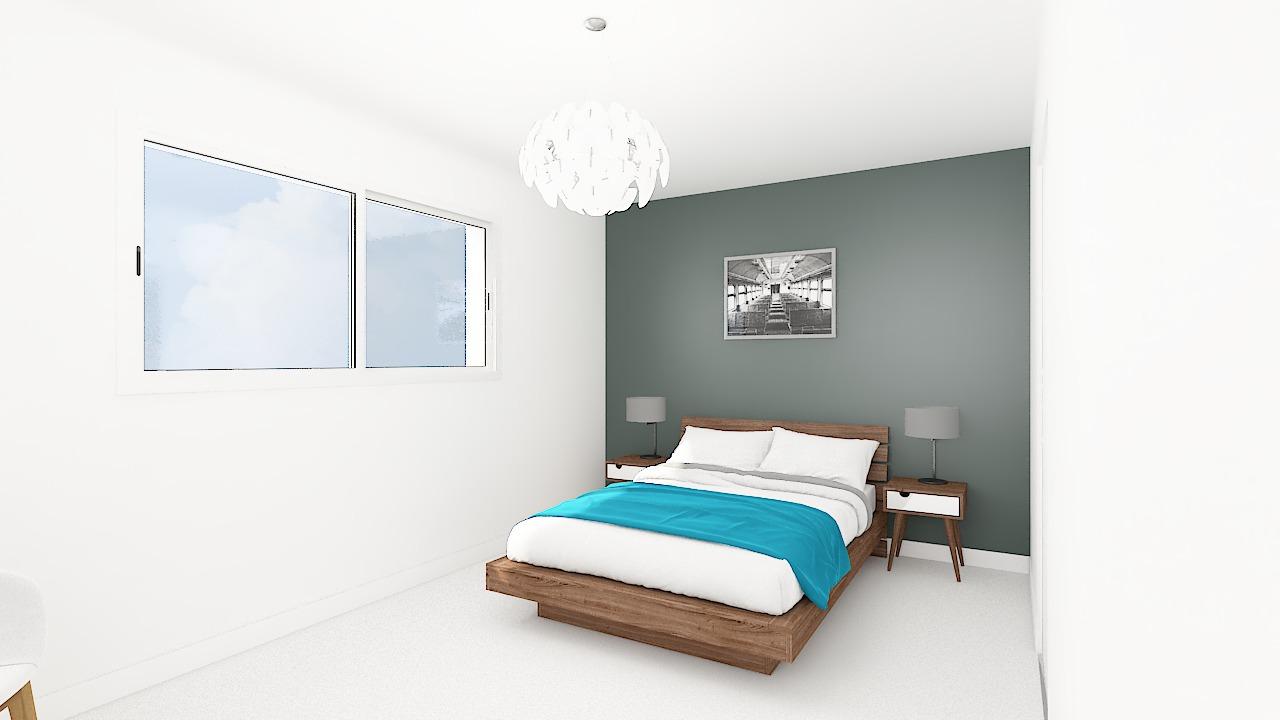 maison ossature bois logicobois modele new-york - chambre2