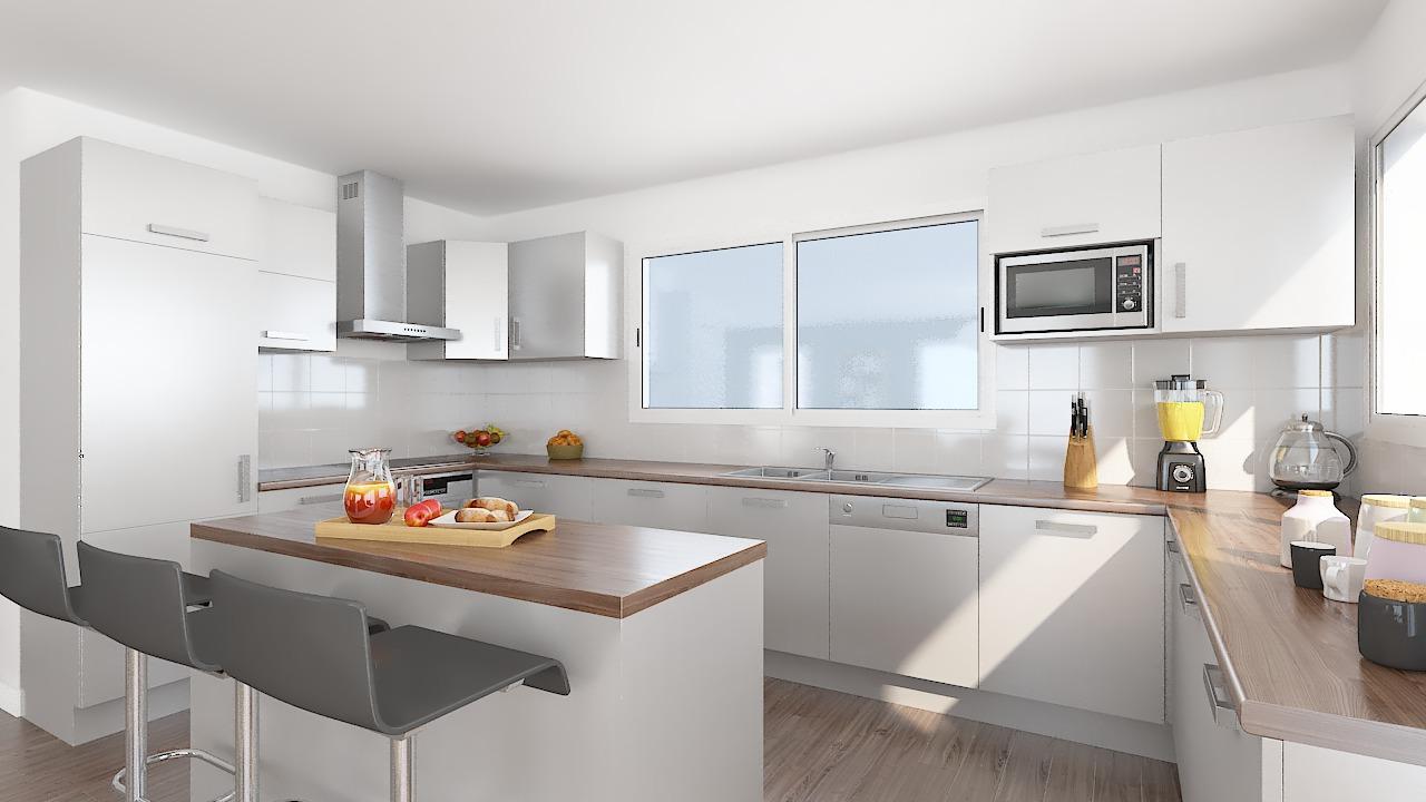 maison ossature bois logicobois modele new-york - cuisine