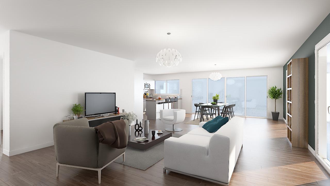 maison ossature bois logicobois modele new-york - sejour