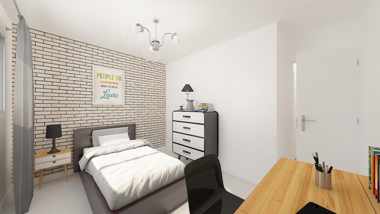 maison ossature bois logicobois modele oslo - chambre2