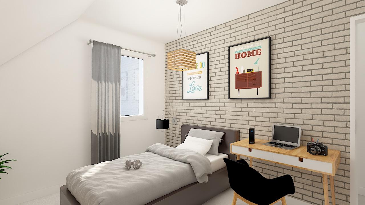 maison ossature bois logicobois modele ostrava - chambre3