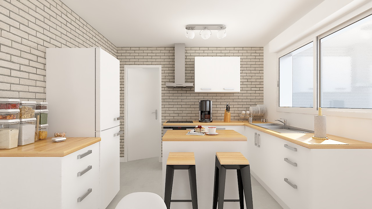 maison ossature bois logicobois modele ostrava - cuisine