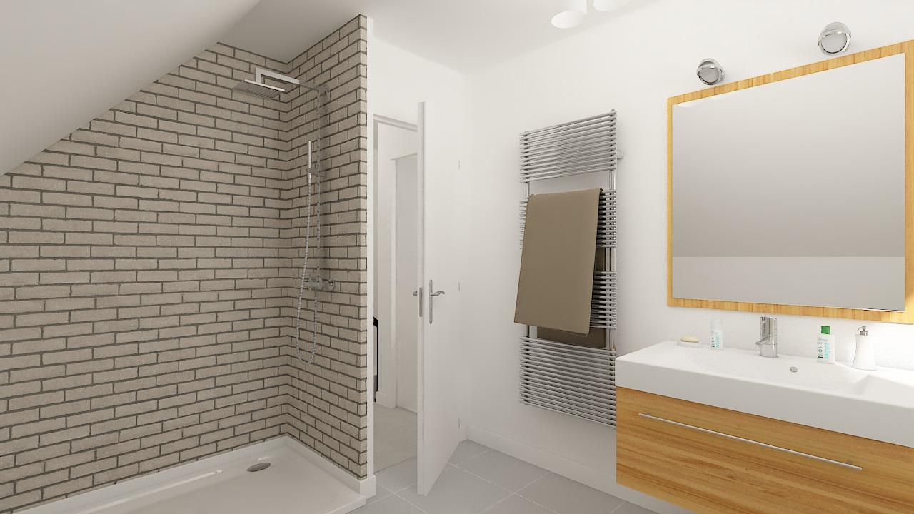 maison ossature bois logicobois modele ostrava - sdb