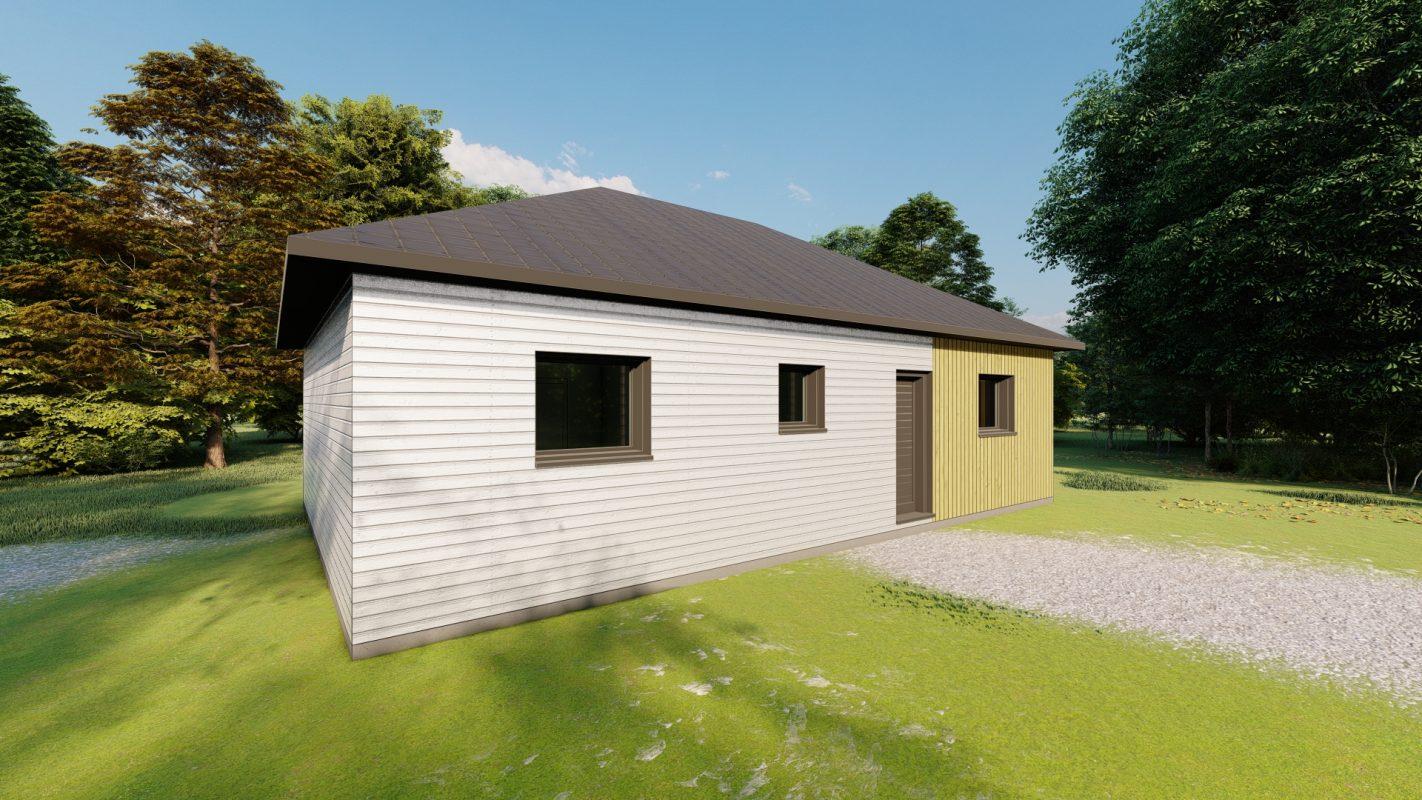 maison ossature bois logicobois modele ottawa vue devant