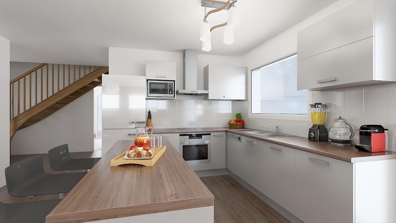 maison ossature bois logicobois modele riga - cuisine