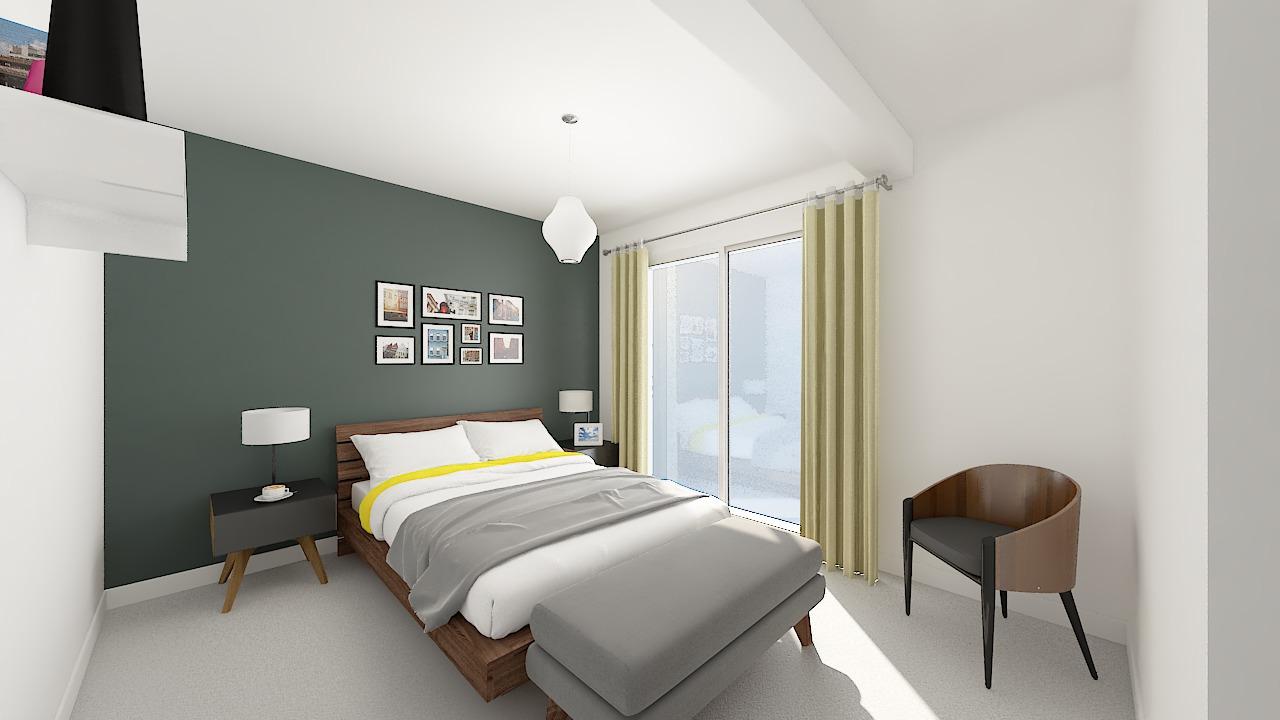 maison ossature bois logicobois modele shangai - chambre1