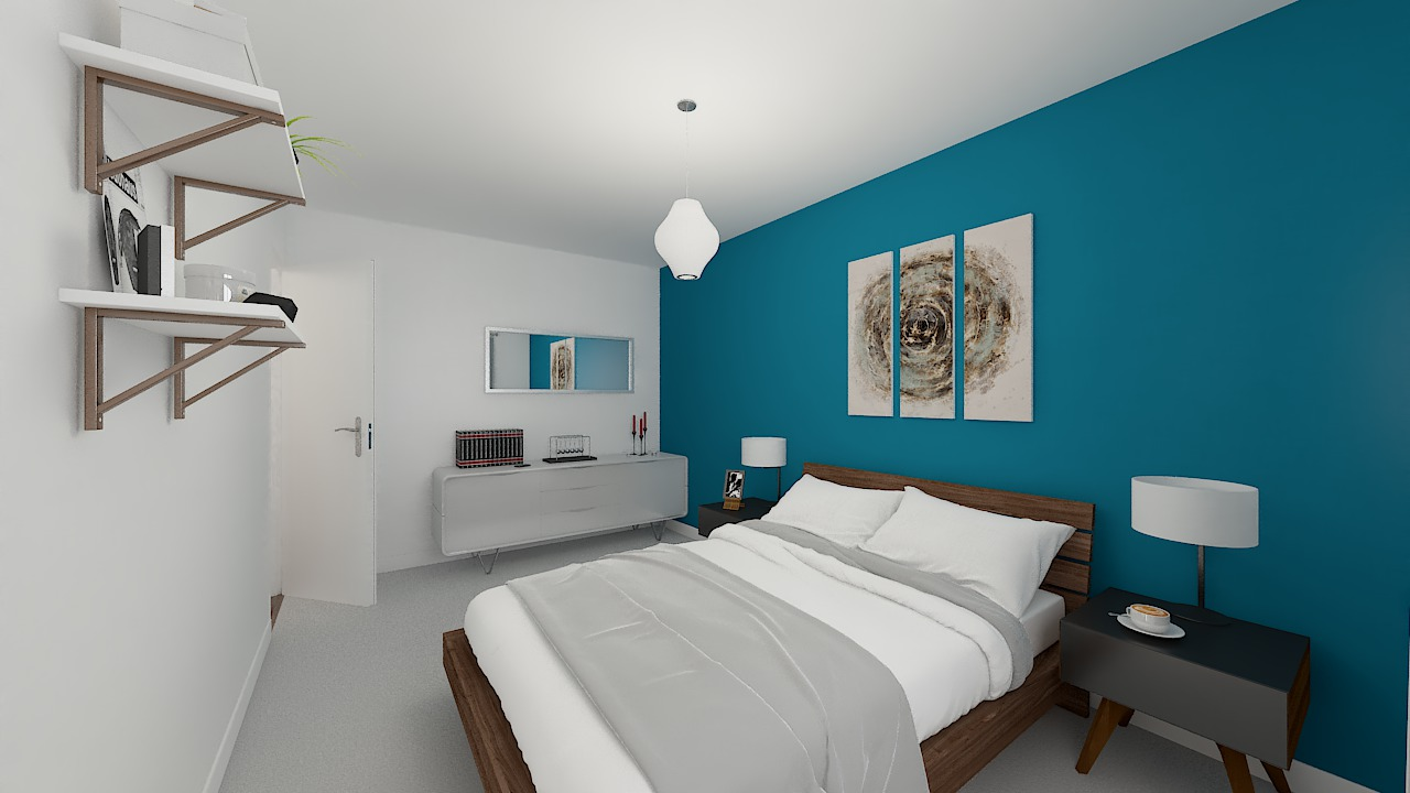 maison ossature bois logicobois modele shangai - chambre2