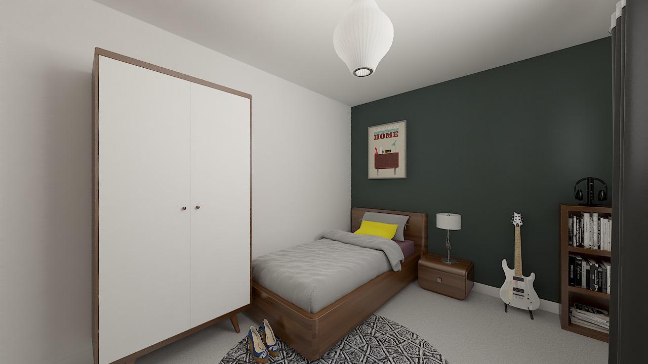 maison ossature bois logicobois modele shangai - chambre4
