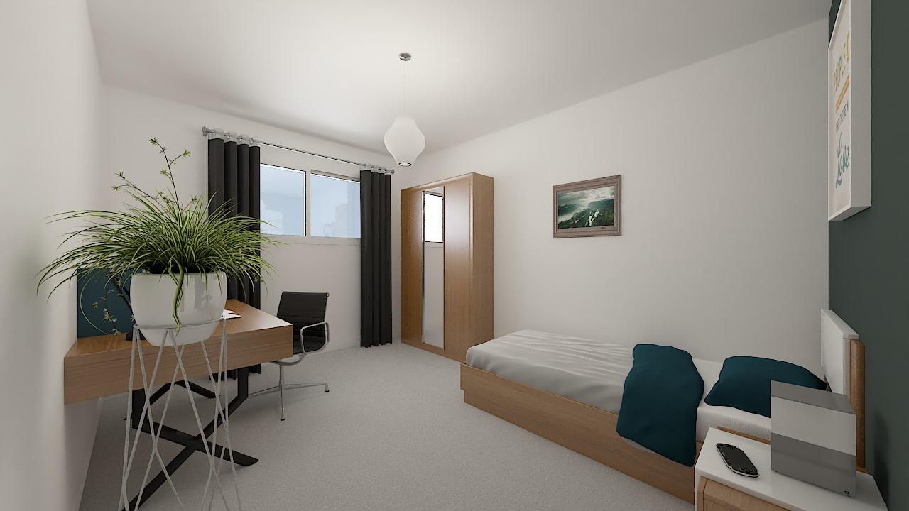 maison ossature bois logicobois modele shangai - chambre5