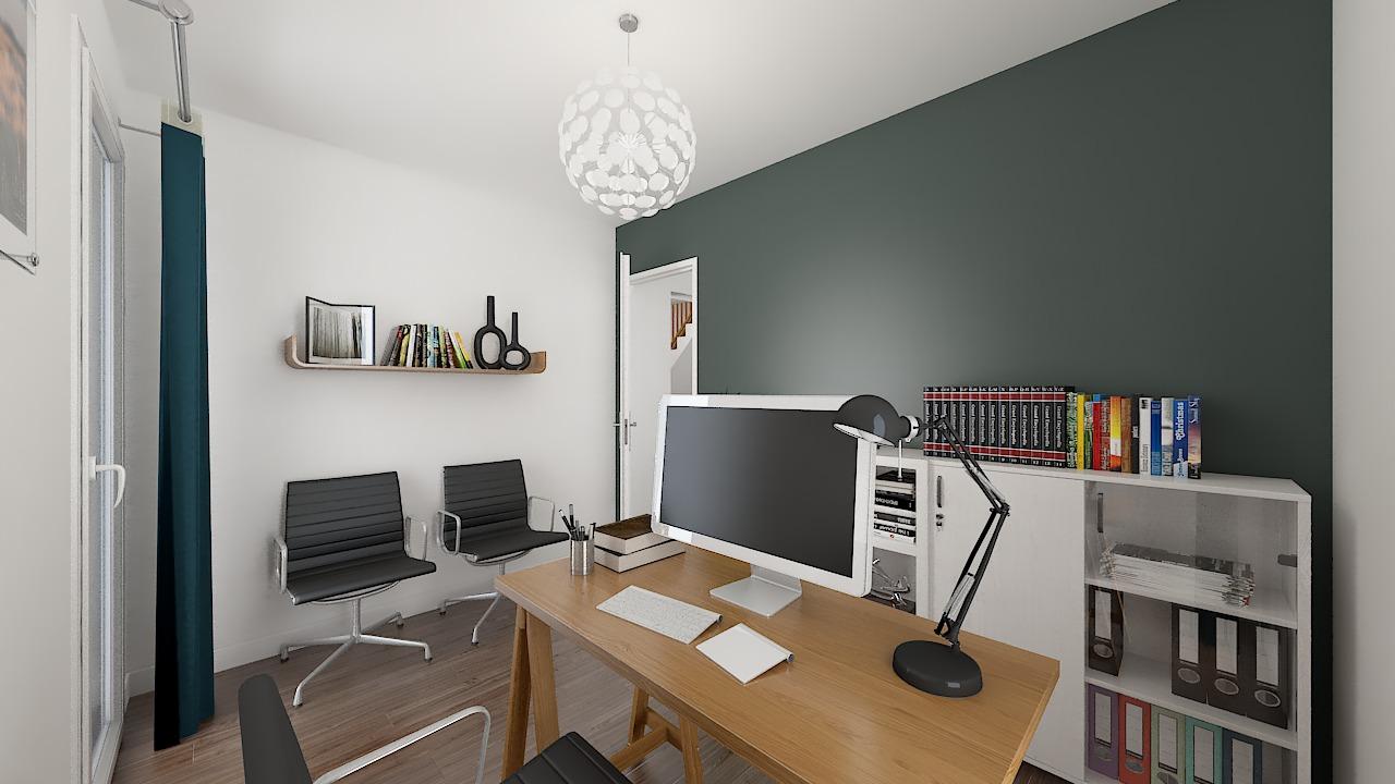 maison ossature bois logicobois modele shangai - chambre6